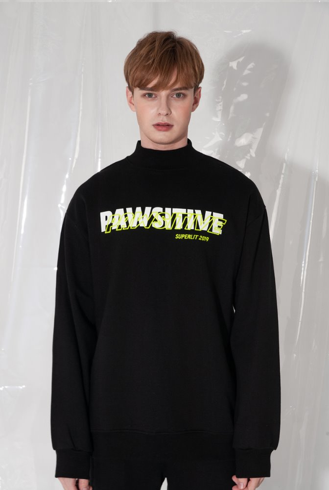 'PAWSITIVE' High Neck MTM 블랙