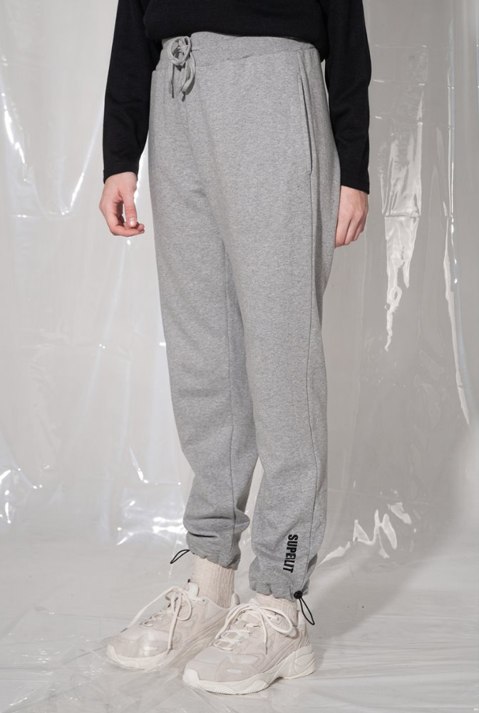 LOGO stopper jogger pants 멜란지