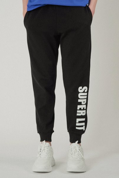 'SUPERLIT' basic pants black