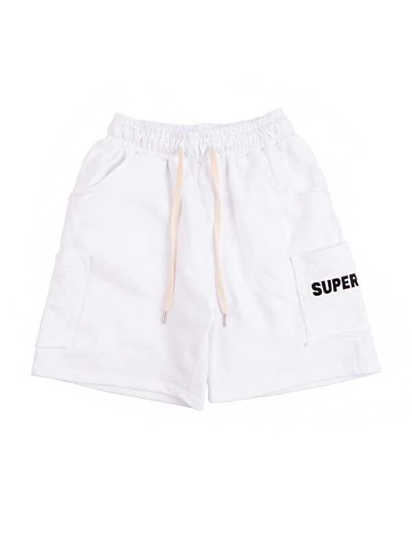 Color Pocket Shorts 화이트