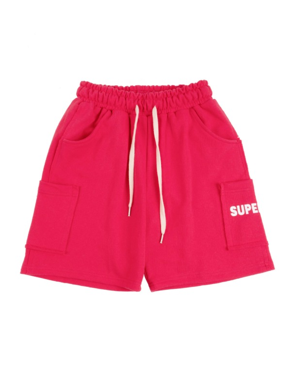 Color Pocket Shorts 핫핑크