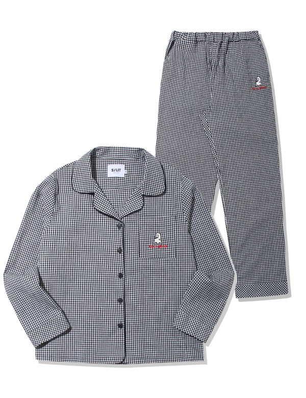 ghost check flannel pajama 파자마 블랙